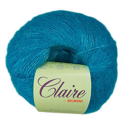 Claire Alpaca Silk Yarn, 1804 turquoise, 25 g (388 e/kg)