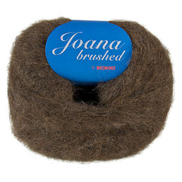 Joana Brushed -alpaca yarn, 1317 brown 50 g (232 e/kg)