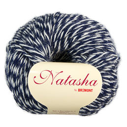 Natasha 132 dark blue / off-white, 50 g (198 e/kg)